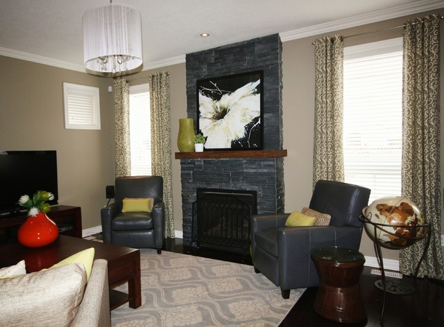 Oakville Home Update Contemporary Living Room Toronto By Donna O 39 Brien Designs Inc