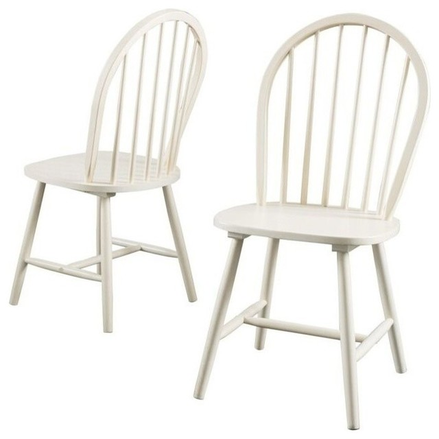 GDF Studio Carrington High Back Spindle Dining Chair, Set of 2