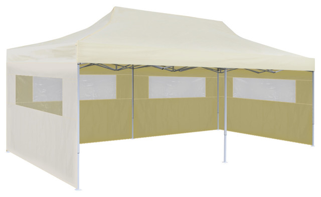 Foldable Pop Up Party Tent Cream 3x6 M Contemporary Gazebos