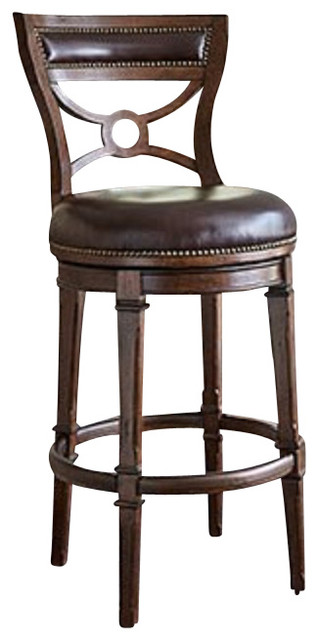 Ambella Home Collection Delaware Swivel Barstool, Armless