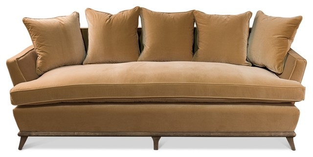 Sofa, Vincent, Yellow, Gold Velvet, Contemporary.