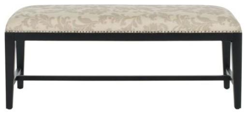 Safavieh Mcr4533 Zambia Birch Bench, Taupe/beige.