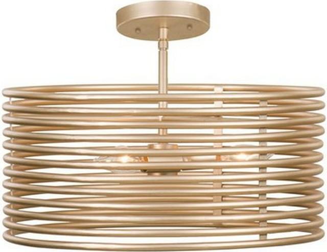 Emery Convertible Pendant, Semi Flush Mount, Modern Gold