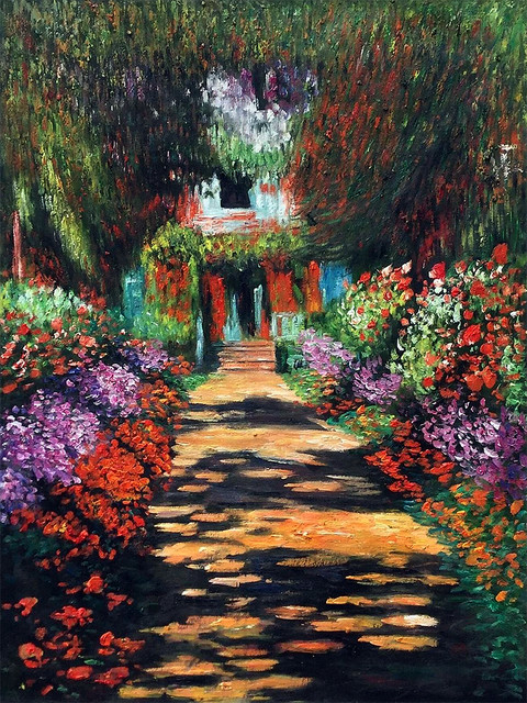 Monet Garden Path At Giverny Farmhouse Paintings