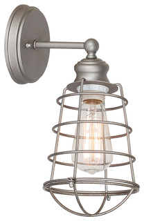 Ajax 1-Light Wall Sconce, Galvanized