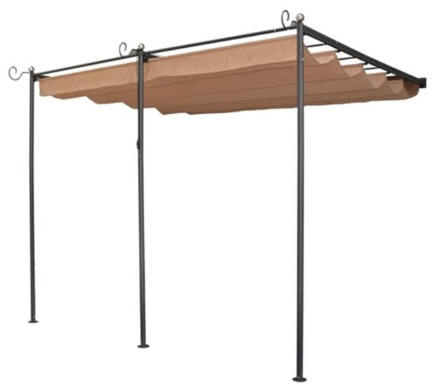 Rowlinson Perwm1 St. Tropez Wall-Mounted Steel Sun Canopy With Retractable.