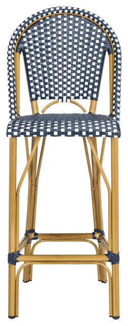 Safavieh Ford Indoor-Outdoor Stacking French Bistro Barstool.