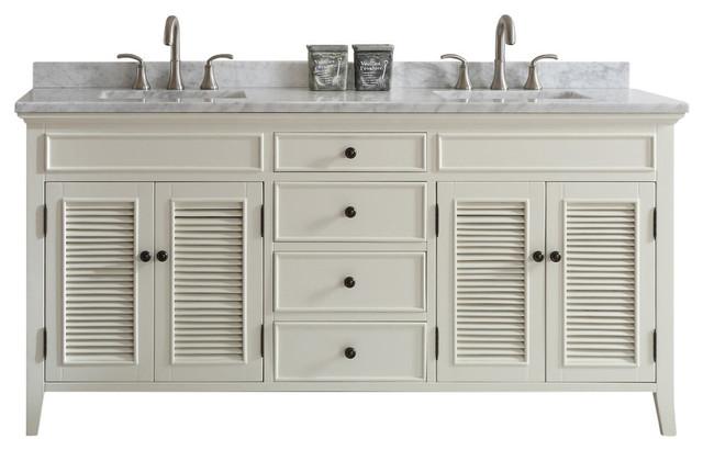 """shop houzz  vinnova piedmont """" double vanity, antique white, Bathroom decor"""