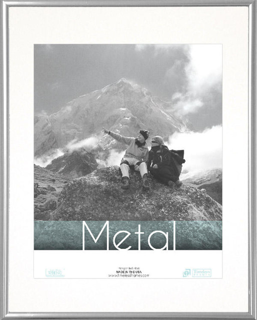 Metal Picture Frame, Silver, 16''x20'' transitional-picture-frames