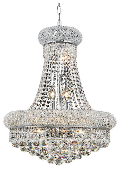 Elegant 1800 Primo 14 Light 20 Royal Cut Chandelier Chrome Clear 1800d20c Rc