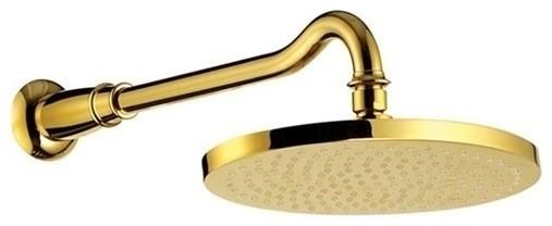 Fontana 12 Gold Plated Round Rain