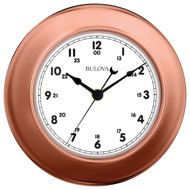 Bulova Info Station Wall Clock Thermometer Barometer