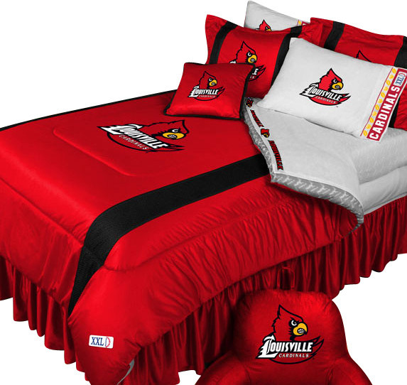 ncaa louisville cardinals bedding set college football bedding set full. Bed Set Full  The Casual Lawson Mission 6 Pc Full Bedroom Set Is A