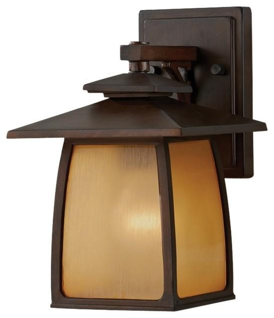 1- Light Outdoor Lantern, Sorrel Brown.