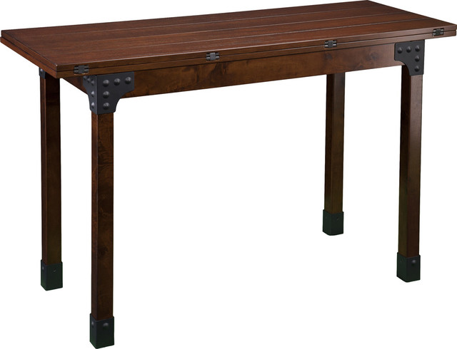Deveron Flip Top Console To Dining Table Industrial Console