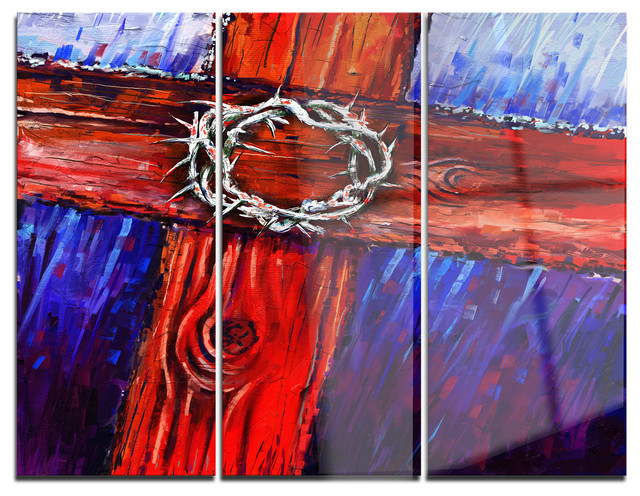 Glossy Crown Wall Decor : Quot crown of thorns glossy metal wall art panels x