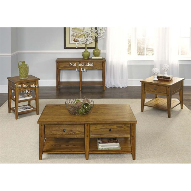 Liberty Furniture Lake House 3 Piece Set (1-Cocktail 2-End Tables)