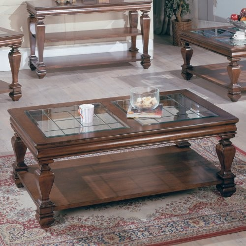 Parker House Rectangular Gl Top Wood Tail Table