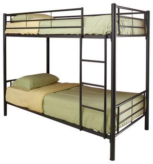 Coaster Twin/Twin Bunk Bed, Black