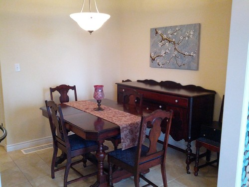 Dining Room Help   Incorporating Antique Furniture Into Modern Home