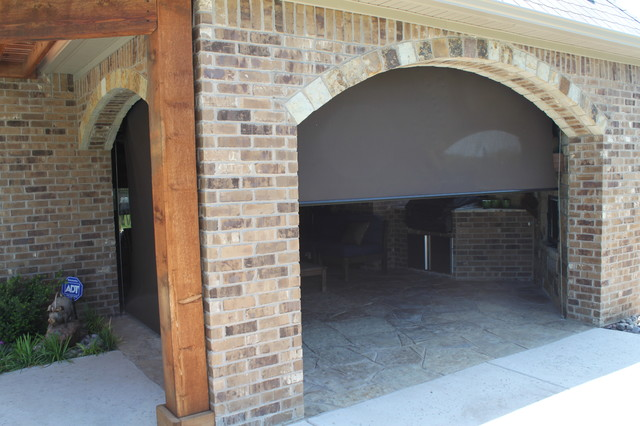 Outdoor Motorized Shades Traditional Dallas By