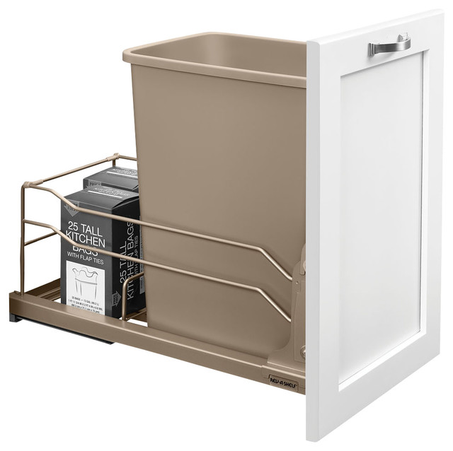 Rev-A-Shelf - Rev-A-Shelf, 35 Quart Pullout Waste Container Soft-Close & Reviews | Houzz