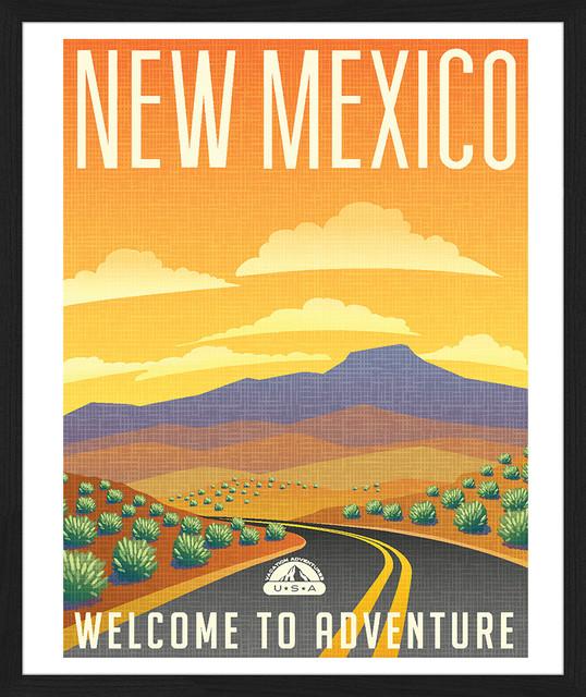 """New Mexico"" Framed Art Print, 55x65 Cm"
