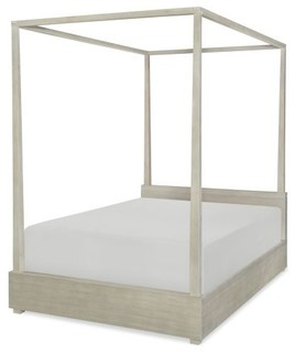 Legacy Indio Poster Bed W Canopy Light Wood Farmhouse