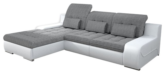 Modern Sleeper Sectional With Pull Out Bed And Storage