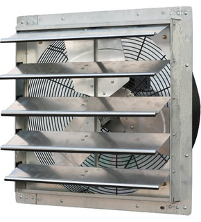 Iliving variable speed shutter exhaust fan wall mounted for Commercial exhaust fans for bathrooms