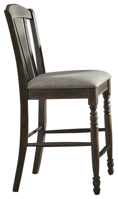 Marvelous Liberty Furniture Candlewood 24 Slat Back Counter Stool Gray Beatyapartments Chair Design Images Beatyapartmentscom
