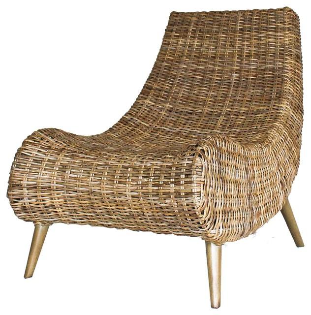 Bon Trevia Rattan Chair, Natural