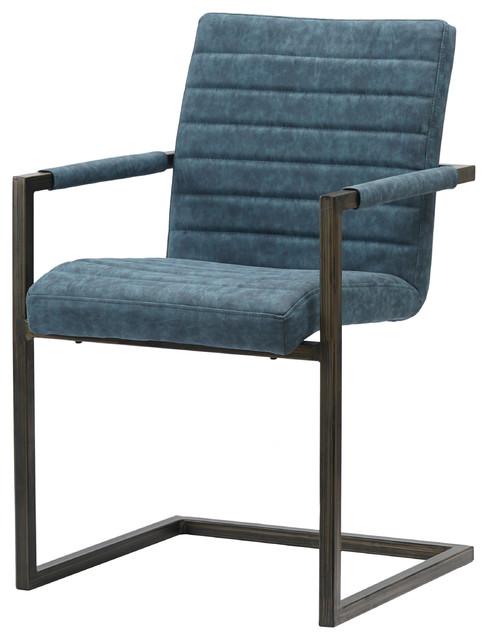 Terrific Gerald Pu Leather Arm Chairs Set Of 2 Kalahari Blue Pdpeps Interior Chair Design Pdpepsorg