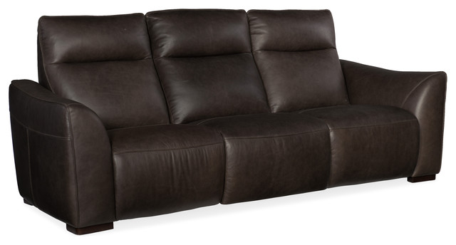 Athena Power Leather Motion Sofa - Contemporary - Sofas - by Hooker ...