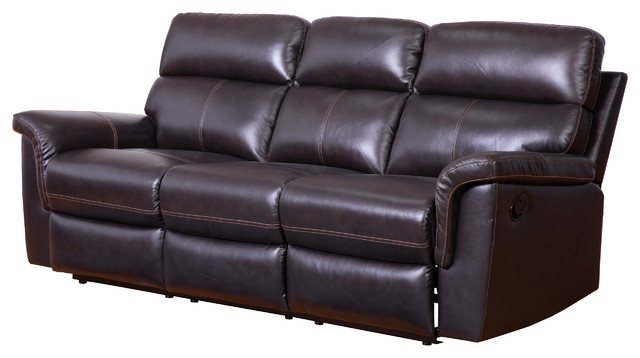Terrific Penelope Top Grain Brown Recliner Leather Sofa Onthecornerstone Fun Painted Chair Ideas Images Onthecornerstoneorg