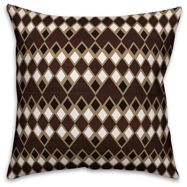 Brown Tribal Outdoor Throw Pillow Scandinavian Outdoor Cushions