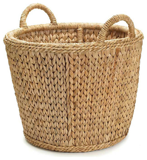 Palm Sweater Weave Log Basket