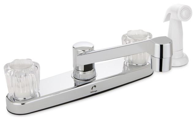 Belanger Dual Handle Non-Metallic Kitchen Faucet, Polished Chrome.