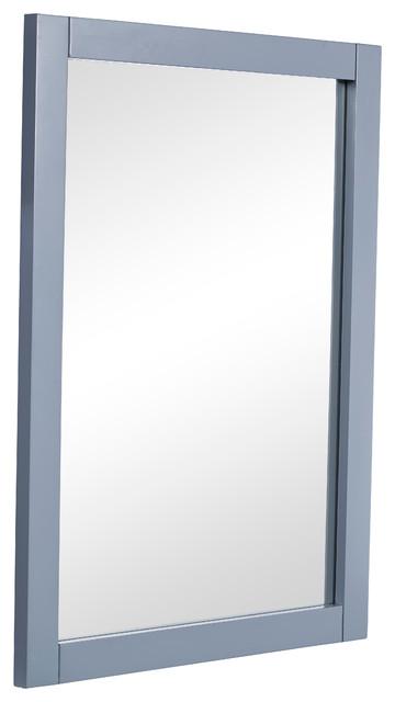 . Park Avenue 22  Contemporary Mirror  Gray