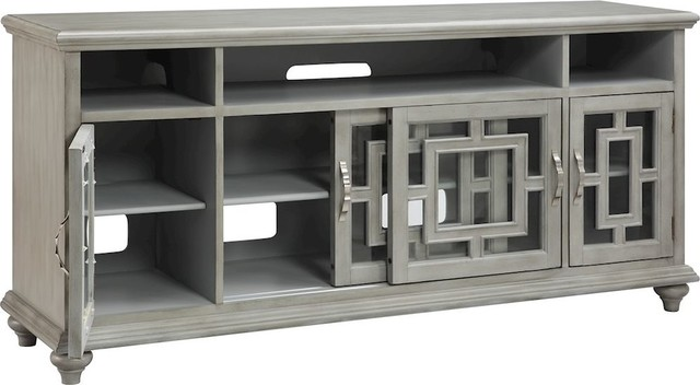 "Baron 72"" Media Console Table - Traditional - Media Cabinets - by HedgeApple"