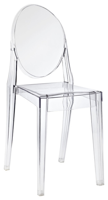 Modern Acrylic Ghost Side Chair New, 1 Chair.