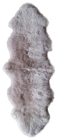 Natural 100% New Zealand Sheepskin Double, 2&x27;x6&x27; Taupe.