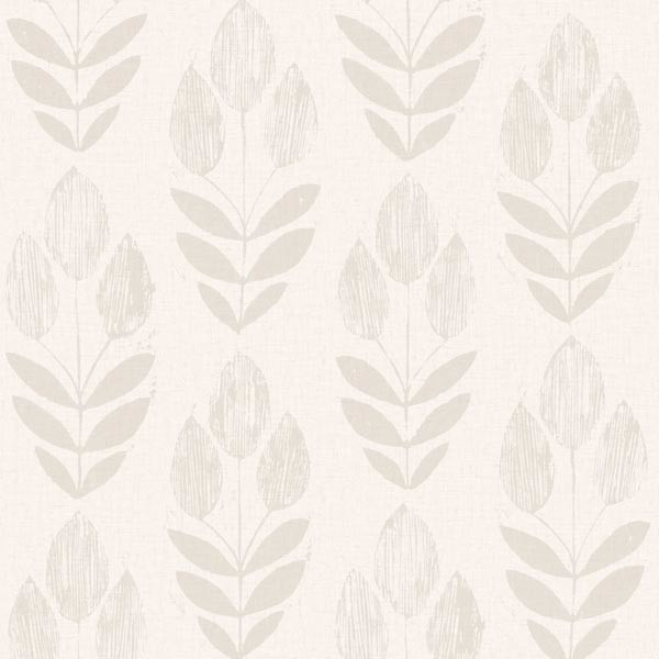 Block Print Wallpaper scandinavian gray block print tulip wallpaper - scandinavian