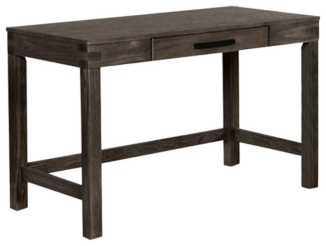 Kellis Rustic Style Writing Desk, Dark Gray.