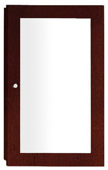 """Ronbow Contemporary Solid Wood Framed Medicine Cabinet, Dark Cherry, 18""""x29""""."""