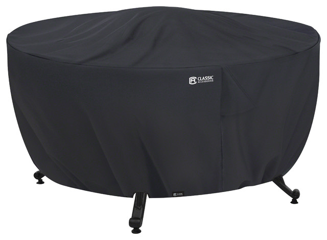 Full Coverage Fire Pit Cover Traditional Outdoor