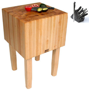 John Boos Aa01 Butcher Block 24x18 Table And Henckels 13