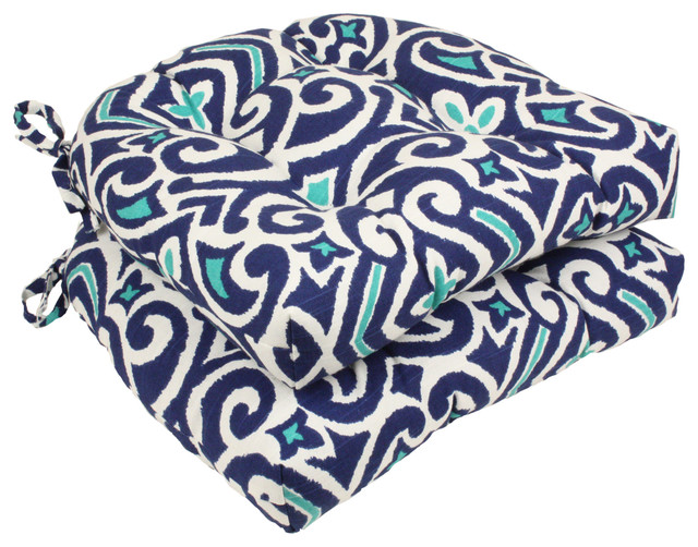 New Damask Reversible Chair Pad