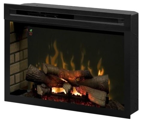 "Multi-Fire Xd Realogs Electric Fireplace, 33""."
