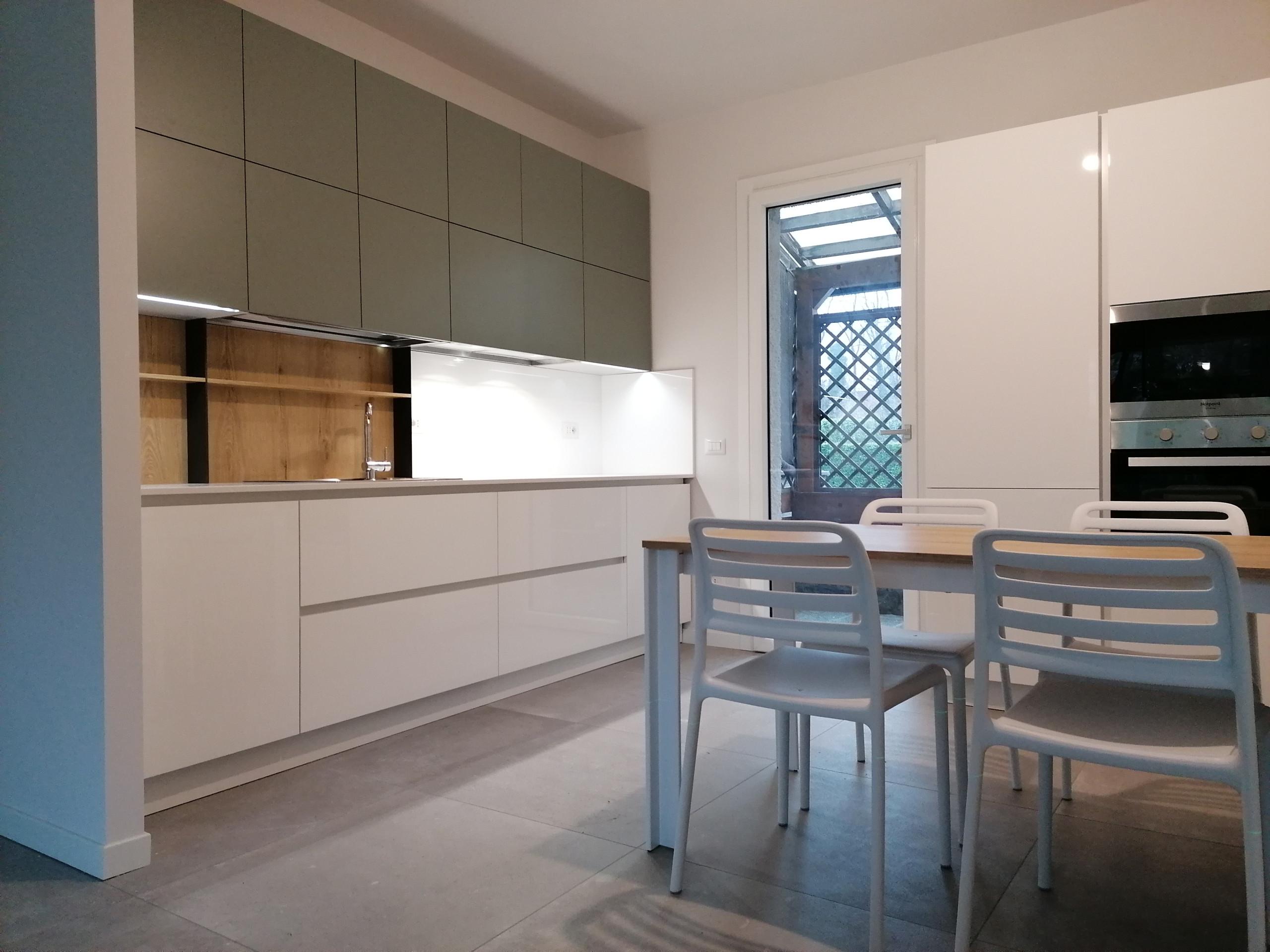 Vista della cucina_Lavori in corso.